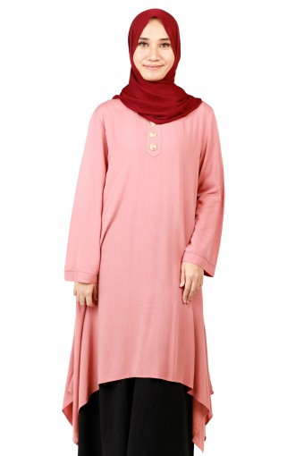 LULU CURVE HEM WITH MARBLE TOP BUTTON TOP