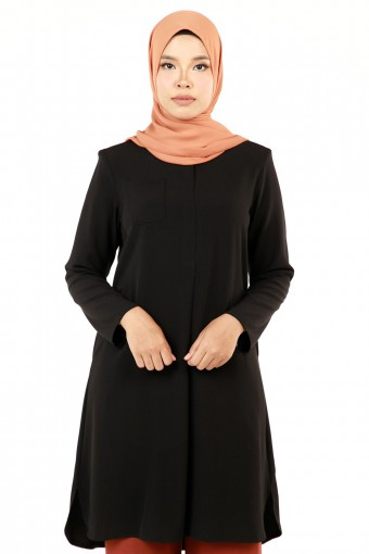 INAYA PATCH POCKET WITH CLIP BUTTON HIDDEN TOP