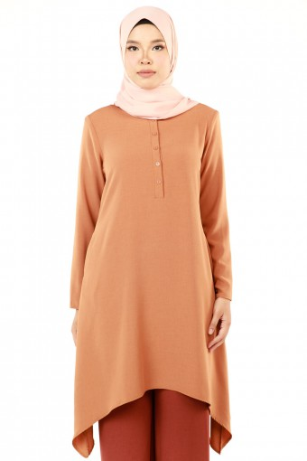 ZAKIYA BASIC SLEEVE WITH CURVE HEM