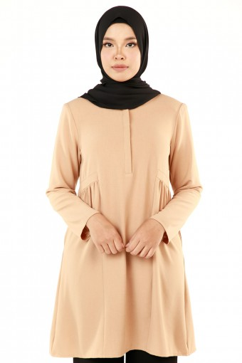 AUFA SQUARE SIDE GATHERED TOP