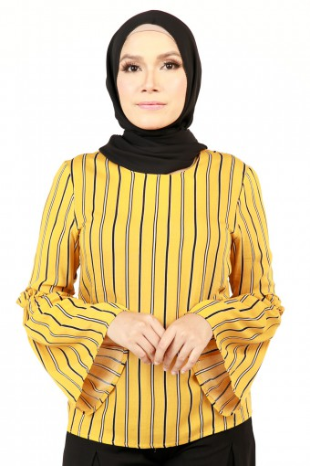 MILLIE STRIPE TOP WITH BELL SLEEVES