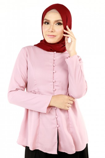 HUWAINA RUFFLE WITH BUTTONED TOP