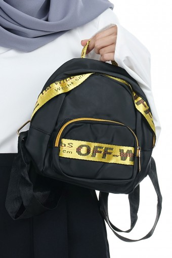 OFF WHITE SMALL BAG PACK (YELLOW)