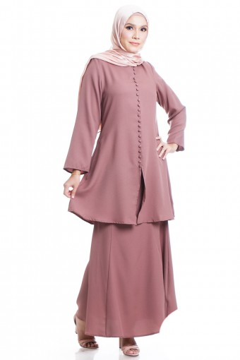 SALWA KURUNG WITH FRONT  BUTTON