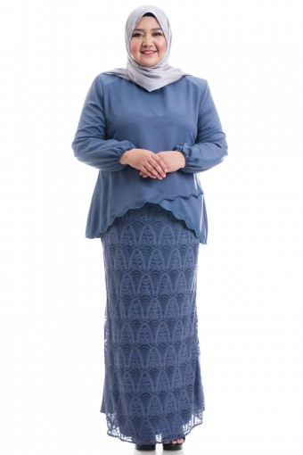 NARESHA KURUNG WITH LAYERED SCALLOP PLUS SIZE
