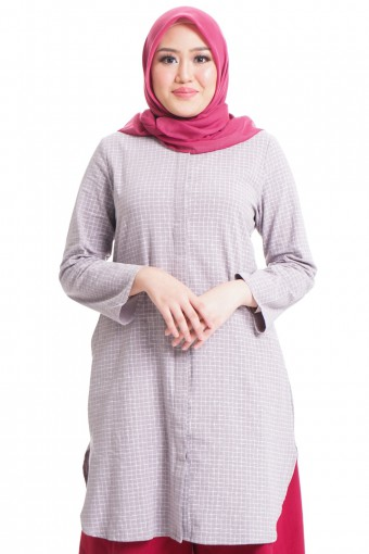 DWI TOP WITH HIDDEN BUTTON