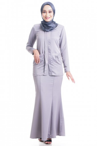 ROSLAILY KEBAYA WITH RUCHED POCKET