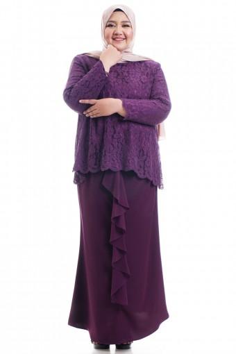 HARERA KURUNG WITH DRAPE SKIRT  PLUS SIZE
