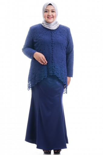 KEESHA KURUNG WITH BACK FISH TAIL PLUS SIZE