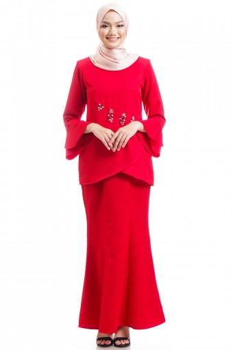 KENISHA KURUNG WITH LAYERED FLARE 42-48