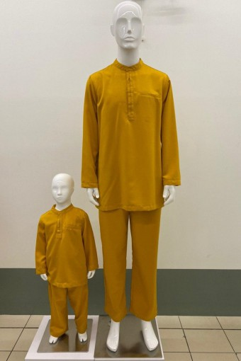 KIDS DAIM BAJU MELAYU  WITH LAYERED BUTTON
