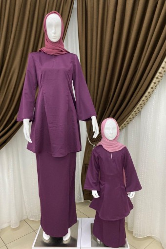 KIDS YUSNIE KURUNG WITH PRINCESS LINE