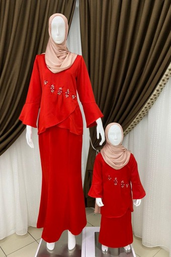 KIDS KENISHA KURUNG WITH LAYERED FLARE